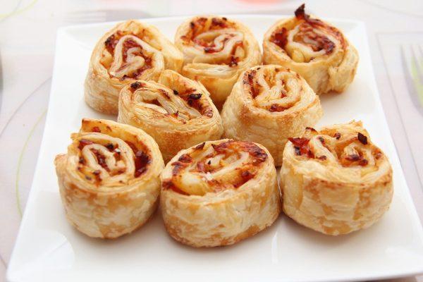 food, pizza, roll